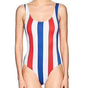NWT ONIA Kelly Striped One-Piece Swimsuit